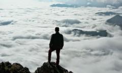 Mar de núvols des del Mont Valier