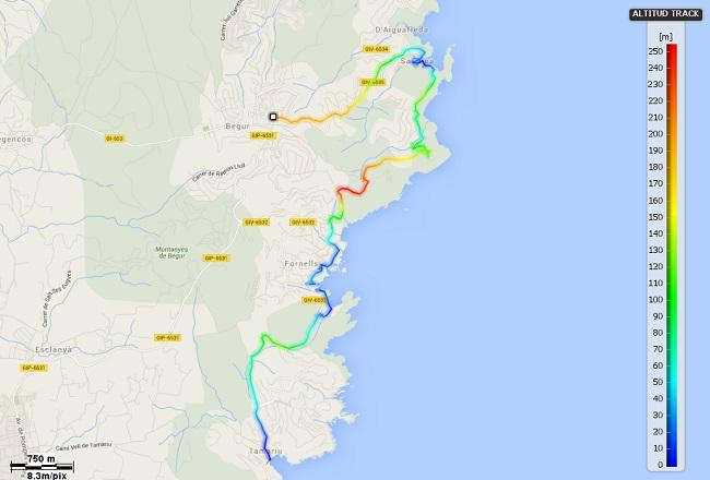 Mapa Mediterrània 12: Begur - Tamariu