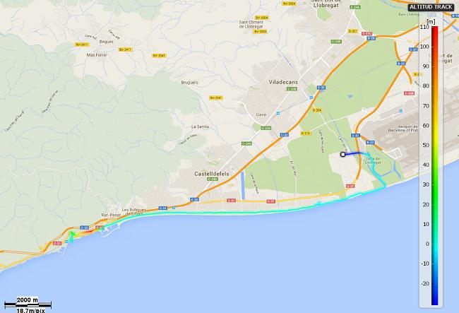 Mapa etapa 21: Aeroport del Prat - Garraf
