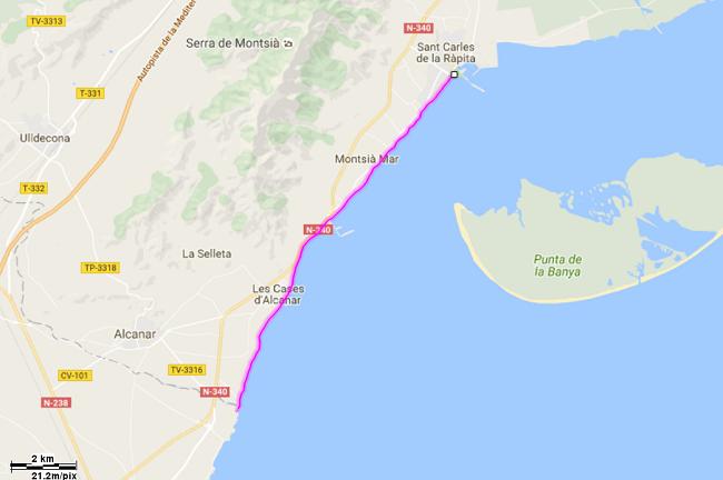 Mediterrània 31: Sant Carles de la Ràpita - Riu de la Sénia