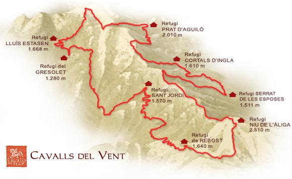 Mapa Cavalls del Vent