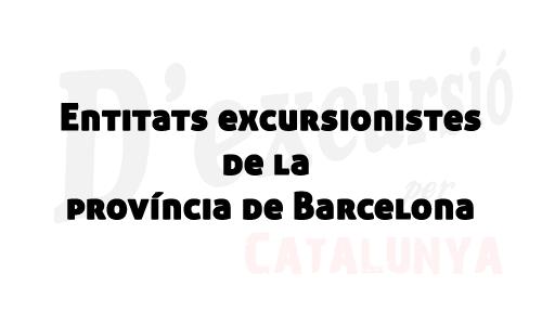Entitats de la província de Barcelona