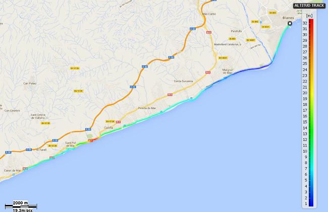 Mapa etapa 17 Camins de la Mediterrània